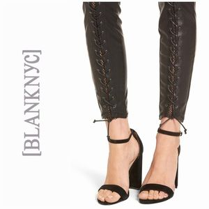 BlankNYC Lace Up Faux Leather Pants